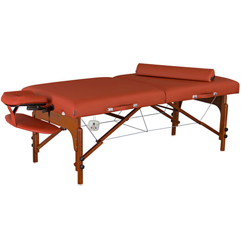 """Master® Massage 30"""" Santana ThermaTop Portable Massage Table Heating Warmer Pad Built in Beauty Bed Salon Mountain Red"""