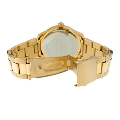 Peugeot® Womens White Dial Gold-Tone Stainless Steel Bracelet Watch 7095WT