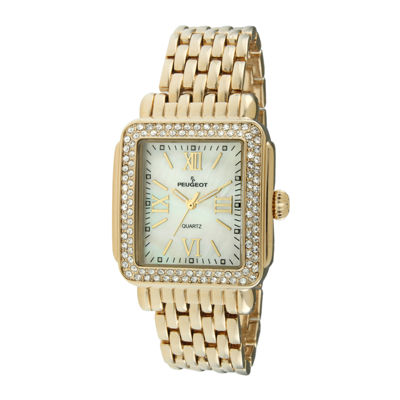 Peugeot® Womens Crystal-Accent Panther-Link Watch 7080G