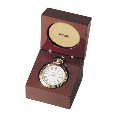Bulova® Aston Convertible Table Clock Pocket Watch