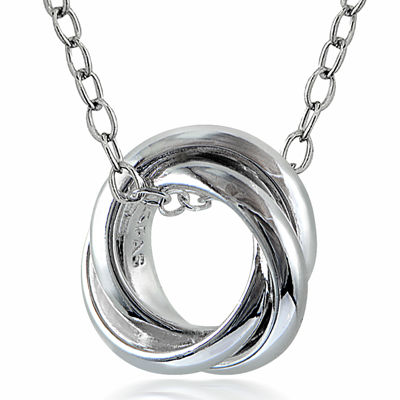 Sterling Silver Love Knot Pendant Necklace