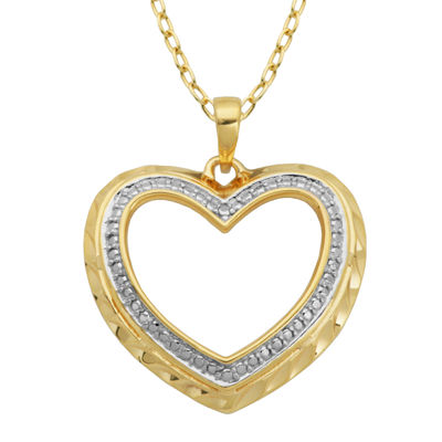 Classic Treasures™ Diamond-Accent Cutout Heart Pendant Necklace