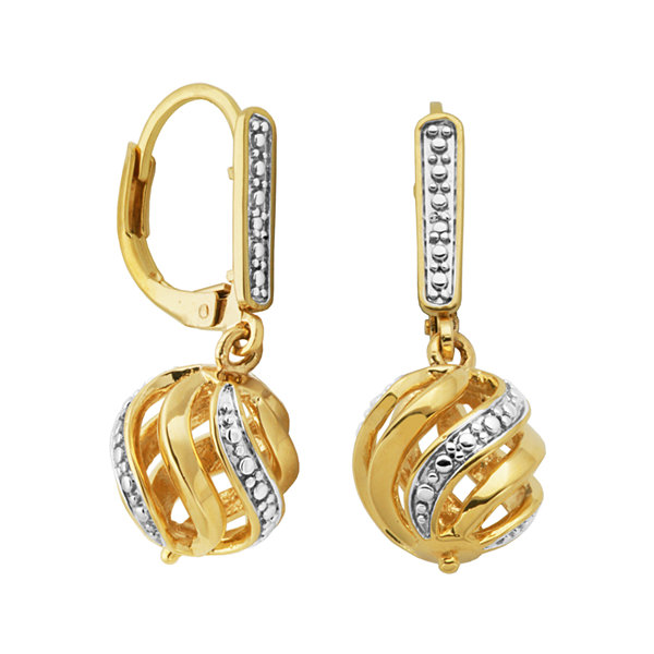 Classic Treasures™ Diamond-Accent Swirl Ball Earrings