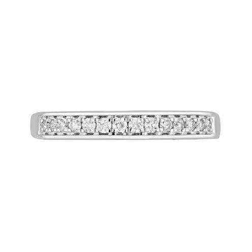 1/4 CT. T.W. Diamond 10K White Gold Wedding Band