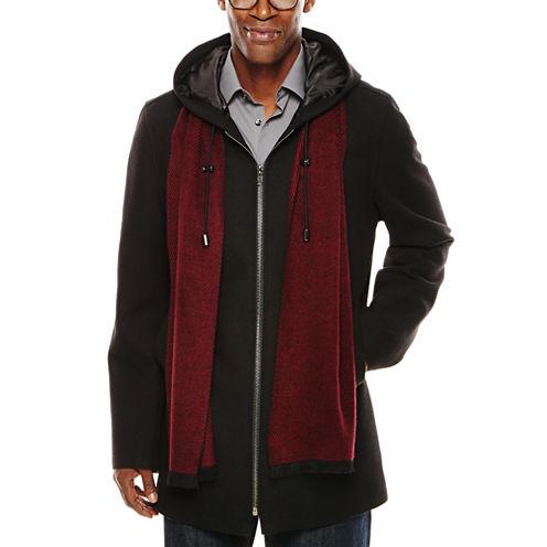 JF J. Ferrar® Hooded Black Coat