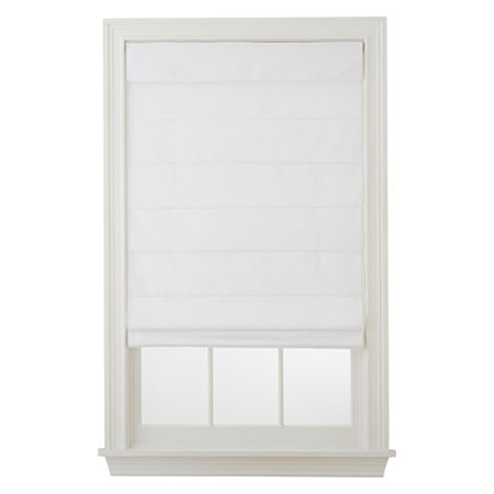 Home Exressions Dover Cordless Roman Shade - FREE SWATCH, One Size , White
