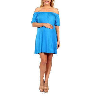 24/7 Comfort Apparel Al Fresco Shift Dress-Plus Maternity