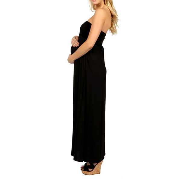 24/7 Comfort Apparel Stop And Stare Maxi Dress-Plus Maternity