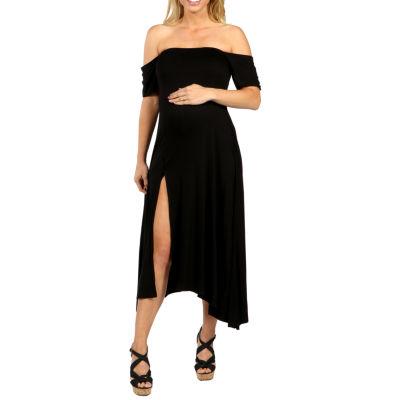 24/7 Comfort Apparel Star Sweep Maxi Dress-Plus Maternity