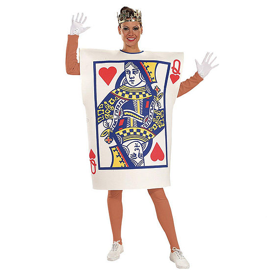 Queen of Hearts Card  Adult Costume - Standard One-Size