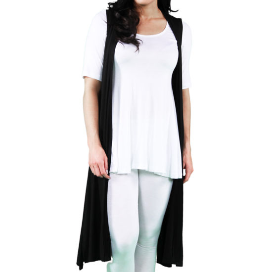 24/7 Comfort Apparel Women's Sleeveless Long Shrug