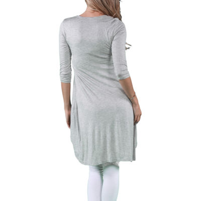 24/7 Comfort Apparel Women's Front Twist Long Shrug