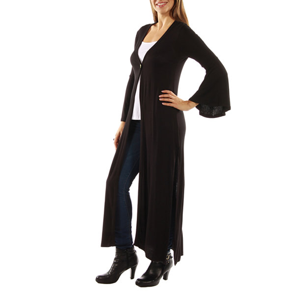 24/7 Comfort Apparel Women's One Button Maxi Jacket