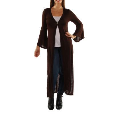 24/7 Comfort Apparel Women's One Button Maxi Jacket