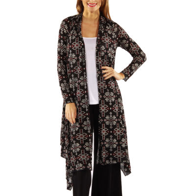 24/7 Comfort Apparel Sexy Sizzle Patterned Cardigan Shrug