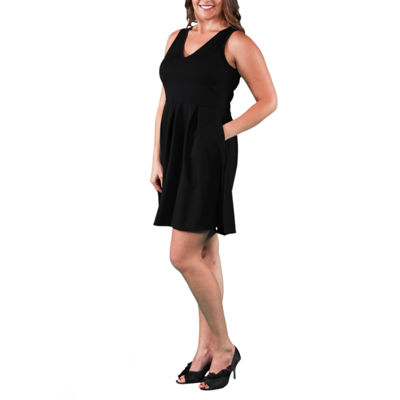 24/7 Comfort Apparel Sleeveless Fit & Flare Dress-Plus