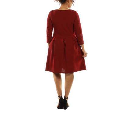 24/7 Comfort Apparel The Classic A-Line Dress-Plus