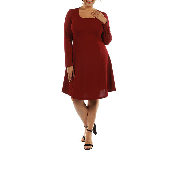 24 7 Comfort Apparel Temptress A Line Dress Plus
