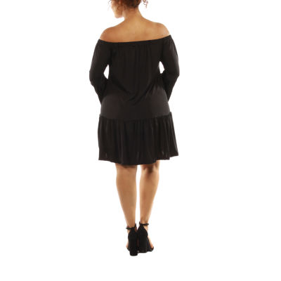 24/7 Comfort Apparel Romance A-Line Dress-Plus
