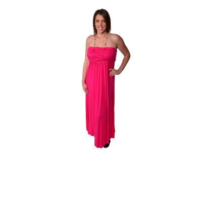 24/7 Comfort Apparel Tube Maxi Dress-Plus