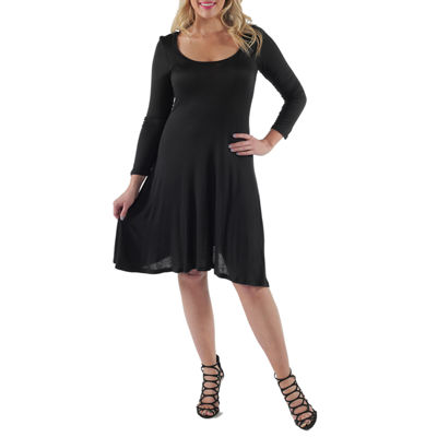 24/7 Comfort Apparel Casual Fit & Flare Dress-Plus