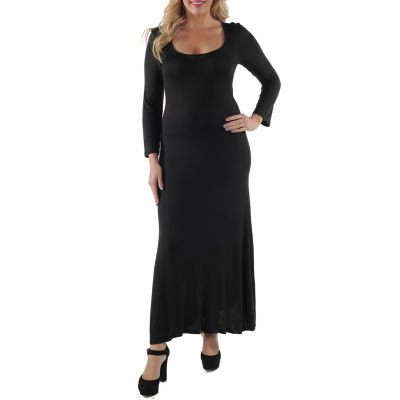 24/7 Comfort Apparel Scoop Neck Maxi Dress-Plus