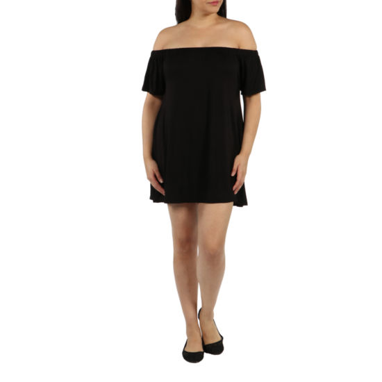 24/7 Comfort Apparel Al Fresco Shift Dress-Plus