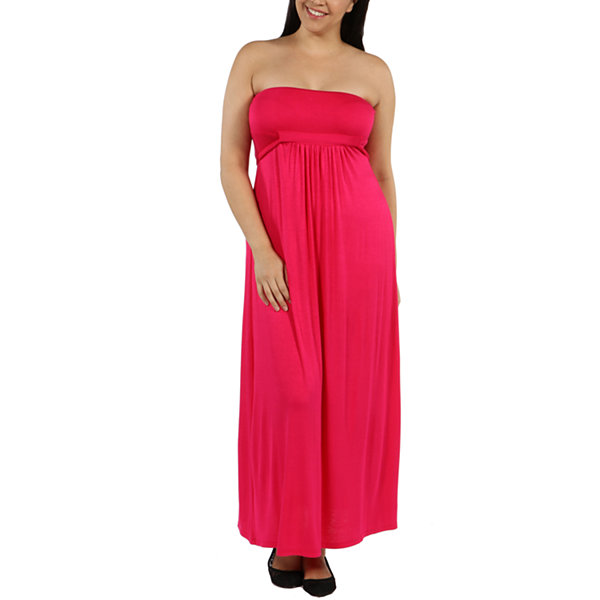 24/7 Comfort Apparel Stop And Stare Maxi Dress-Plus