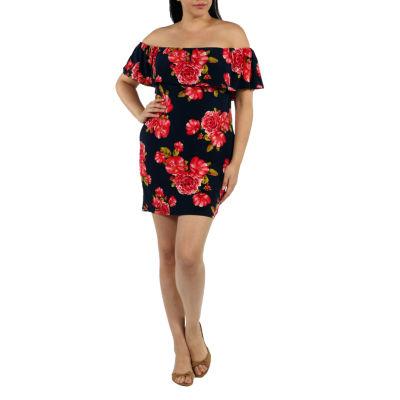 24/7 Comfort Apparel Rose Meadow Sheath Dress-Plus