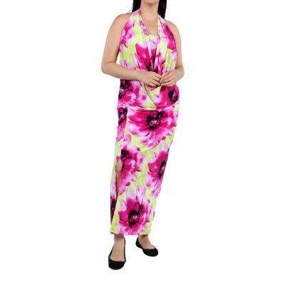 24/7 Comfort Apparel Enchanted Sands Maxi Dress-Plus
