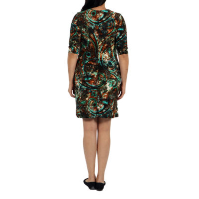 24/7 Comfort Apparel Pretty And Brilliant Wrap Dress-Plus