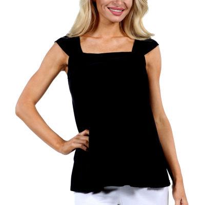 24/7 Comfort Apparel Sleeveless Side Tie Womens Tank Top Plus