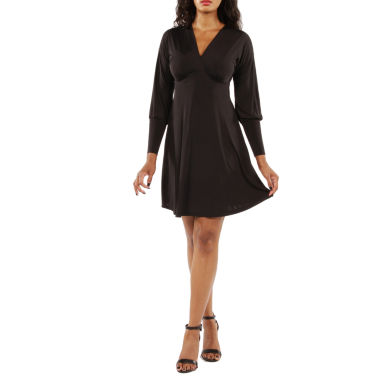 24/7 Comfort Apparel Knee Length Empire Waist Dress