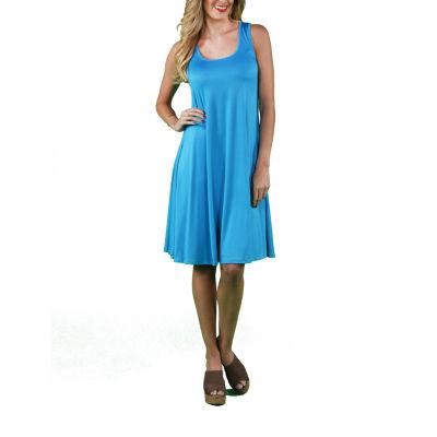 24/7 Comfort Apparel Sleeveless Tank Fit & Flare Dress