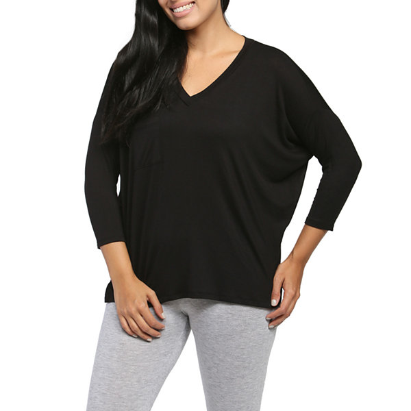 24/7 Comfort Apparel Oversided Dolman T-Shirt-Womens