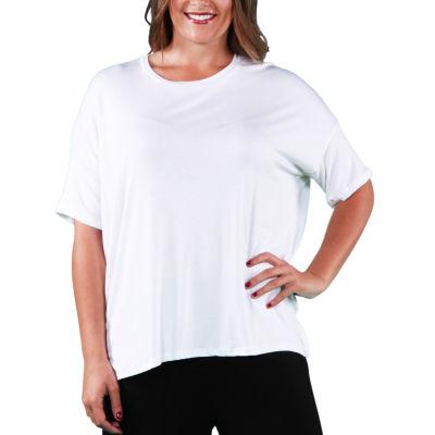 24/7 Comfort Apparel Dolman T-Shirt-Womens Plus