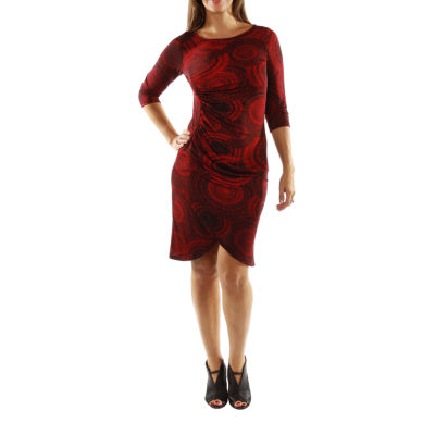 24/7 Comfort Apparel Center Of Attention Sheath Dress