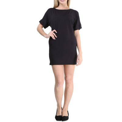 24/7 Comfort Apparel Oversized T-Shirt Shift Dress