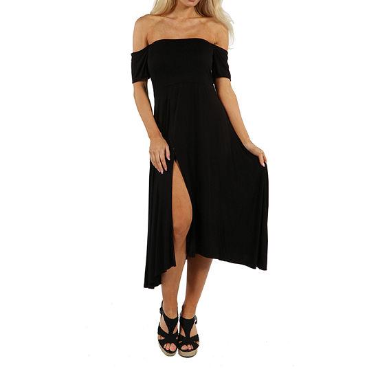 24/7 Comfort Apparel Star Sweep Shift Dress
