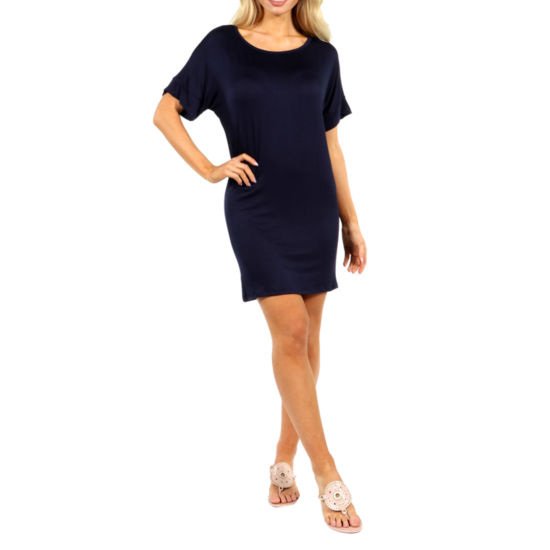 24/7 Comfort Apparel Oversized T-Shirt Shift Dress