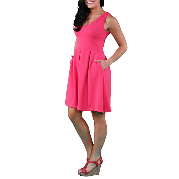24/7 Comfort Apparel Sleeveless A-Line Dress