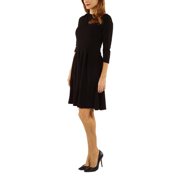 24/7 Comfort Apparel The Classic Fit & Flare Dress