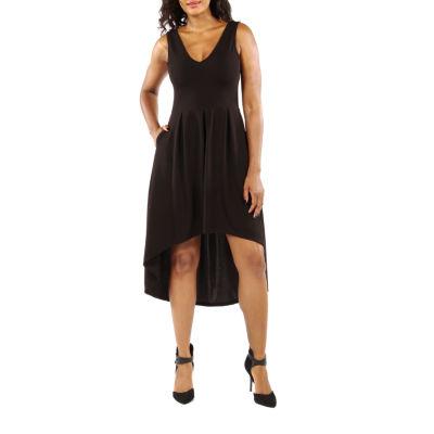24/7 Comfort Apparel Enchangting High-Low Fit & Flare Dress
