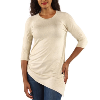 24/7 Comfort Apparel Side Cinched Tunic Top