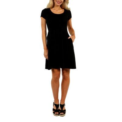 24/7 Comfort Apparel Spring Fling Fit & Flare Dress