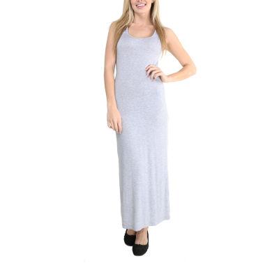 24/7 Comfort Apparel Sleeveless Tank Maxi Dress