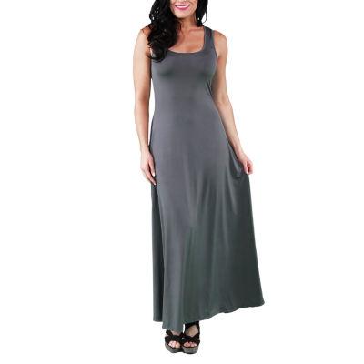 24/7 Comfort Apparel Scoop Neck Tank Maxi Dress