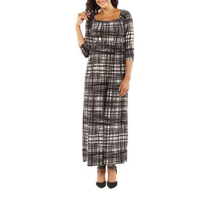 24/7 Comfort Apparel Graceful Glamour Maxi Dress