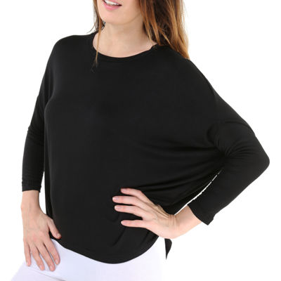 24/7 Comfort Apparel Oversized Dolman T-Shirt-Womens