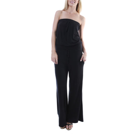 24/7 Comfort Apparel Two Pocket Sleeveless Jumpsuit